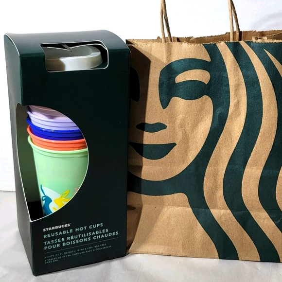 Starbucks 2021 Spring 6 pack hot reusable cups